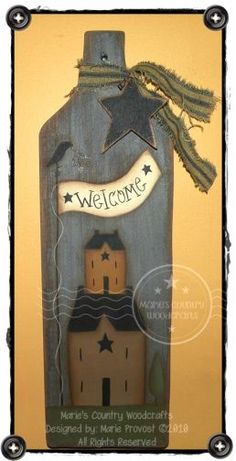 Saltbox House Welcome Pattern by Marie Provost