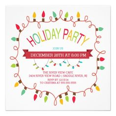 Trendy Christmas tree corporate holiday party Card | Trees ...
