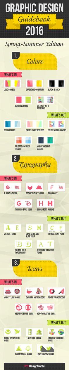 Graphic Design Guidebook 2016 | http://www.designmantic.com/blog/infographics/graphic-design-guidebook-2016/