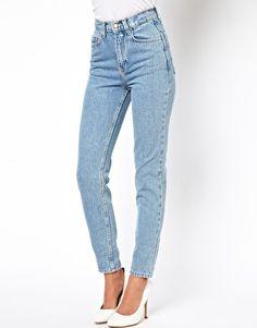 American Apparel Short Leg High Waist Jean $118.79