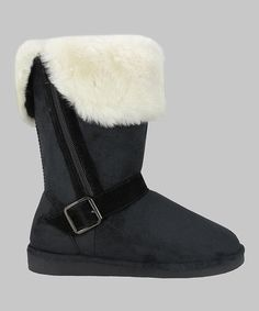 Black Faux Fur  Boot by Easy Shoes Man made means that they are vegan and cruelty free! So comfortable, yet stylish and perfect for those chilly days and nights.  Hurry this sale ends soon only $18.99 originally $55  So cute and no animals had to suffer for them. Say NO to Cruel UGGS and go cruelty free.  Don't know about UGGS Cruelty? GO here: http://www.change.org/p/ugg-australia-stop-mutilating-torturing-and-killing-sheep-to-make-ugg-boots