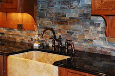 kitchen backsplash ideas for oak cabinets | kitchen remodel, Mission kitchen with quartersawn oak custom cabinets ...