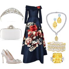 State Visit to Chile Day 2: Evening by queenalex on Polyvore featuring moda, Carolina Herrera, Casadei, Oscar de la Renta and INC International Concepts