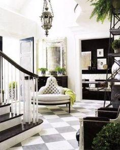 Stylish black and white decorating ideas - palatial palate via myLusciousLife.com.jpg