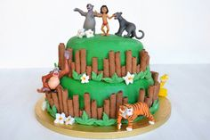 Torta libro della giungla, scopri la ricetta: http://www.misya.info/ricetta/torta-libro-della-giungla.htm