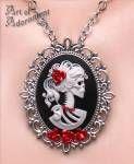 Madam Muerte Rose Skull Cameo