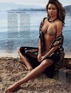 visual optimism; fashion editorials, shows, campaigns & more!: verano a cuerpo descubierto: miranda kerr by xavi gordo for elle spain may 2014