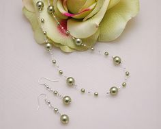 Pearl Illusion Necklace - I like the idea - different color (burgundy)