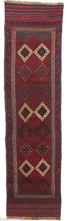 235x62 cm orient Teppich Afghan Nomaden bauern sumakh kelim läufer kilim Nr-18