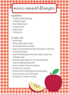 Cooking with children: mini apple slices - Cookie Cake Pie, Party Food Platters, Mini Apple, Dutch Recipes, Food Journal, Pumpkin Spice Cupcakes, Apple Slices, Gluten Free Baking, Cooking With Kids