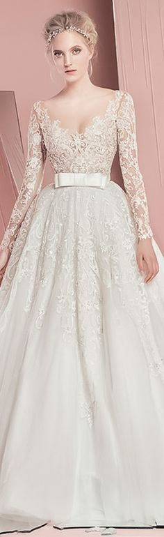 long sleeves wedding ball gown #weddingdress