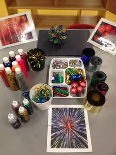 Let the children make their own fireworks!