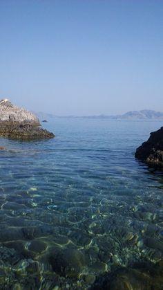 Horizon and a clear blue lagoon,September Mikra Kerame Beach,close to Agios Kirikos port Greek Beauty, Travel Maps, Blue Lagoon, Naturally Beautiful, Greece Travel, Greek Islands, Travel Around, Adventure Time, Places To See
