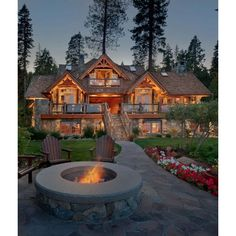 Old Tahoe House by OOA Design Style Estate ❤ liked on Polyvore featuring house
