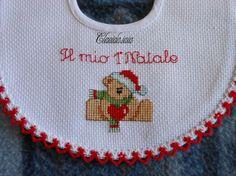 MdC Natale 2014_Bavaglino Orsetto con cuore_2 - della categoria Punto Croce dall'album di Claudia.iaia.