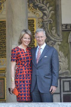 Crown Prince Philippe and  Crown Princess Mathilde will ascend the throne of Belgium and become King and Queen on July 21, 2013