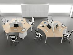 Modern Office Furniture Design Ideas, Entity Office Desks by Antonio Morello