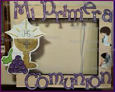 Marco primera comunión First Communion Decorations, First Communion Favors, First Holy Communion, Baptism Party, Baby Party, Foto Frame, Prince Party, Christmas Angels, Baby Shower Themes