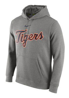 Nike Detroit Tigers Mens Grey Club Hoodie