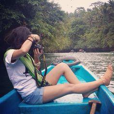 Menyusuri setiap Kota di indonesia adalah impian ku... Dan salah satu Nya kini aku berada di Green Canyon #pangandaran  love the day... Love the place