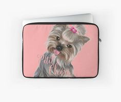 Laptop case /cute dog yorkshire Ipad case Laptop sleeve