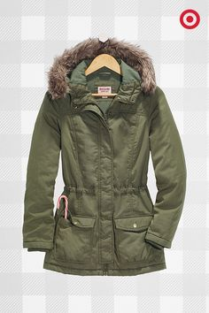 Finish a cold-weather look with a hooded coat that's relaxed yet remarkably streamlined—pile on the layers. Team parka!