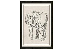 One Kings Lane - The Home Office - Horse Linear Drawing