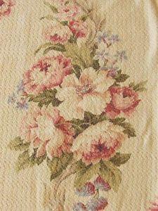 Gorgeous Patina Barkcloth Creamy Dreamy Vintage 40s Drapes Cottage Bouquets | eBay Vintageblessings
