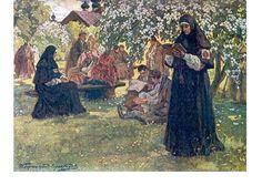 И.С. Горюшкин-Сорокопудов (1873–1954 гг.), «В старообрядческом монастыре», 1910-е гг.