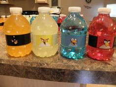 Custom Angry Birds Party Drinks - Make Them Yourself Birthday Themes For Boys, 4th Birthday Parties, Boy Birthday, Birthday Ideas, All Angry Birds, Festa Angry Birds, Printing Labels, Party Drinks, Christmas Projects