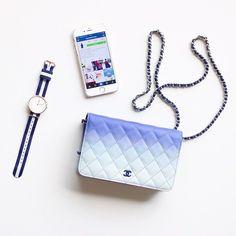 A gradient blue Chanel WOC.