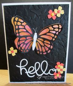 Stamp & Scrap with Frenchie: Butterfly Vellum Window