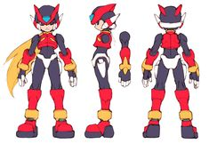 View an image titled 'Zero Concept Art' in our Mega Man Zero art gallery featuring official character designs, concept art, and promo pictures. Character Reference Sheet, Character Model Sheet, Game Character Design, Character Design Animation, Character Modeling, Character Design References, Character Concept, Character Art, Concept Art