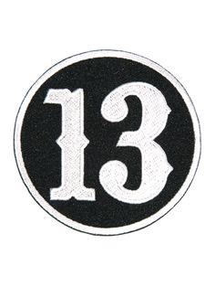 Number 13 Circle Patch