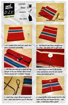 swellmayde: DIY ethnic wrap clutch