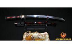 SWORD WAKIZASHI JAPANESE SAMURAI 1095 Steel Clay Tempered UNOKUBI-ZUKURI Blade