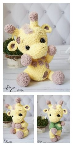 Amigurumi Tiny Giraffe Free Pattern – Free Patterns The Effective Pictures We Offer You About Amigur Crochet Giraffe Pattern, Crochet Amigurumi Free Patterns, Crochet Animal Patterns, Stuffed Animal Patterns, Crochet Dolls, Amigurumi Giraffe, Amigurumi Doll, Cute Crochet, Crochet Projects