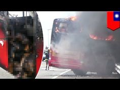 Burned to death: Chinese tourists killed after tour bus caught on fire in Taiwan - TomoNews - YouTube