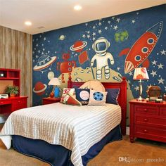 outer space themed room decor