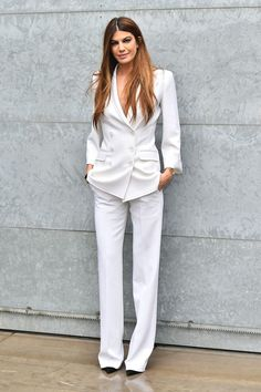 White suit for her