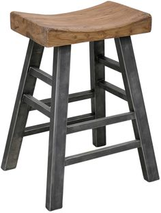 saddle style bar stool with a French Country look