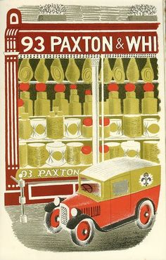 CHEESEMONGER / 'Eric Ravilious: The Story of High Street' First published 1938.