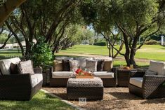 Contemporary Patio Sofa in Brown