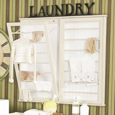 Why not have a laundry room look as fresh and clean as it smells?