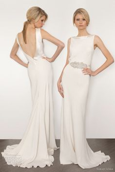 sarah janks bridal 2013 couture cassandra sheath wedding dress