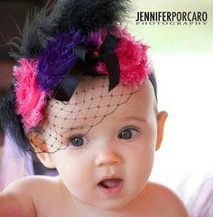 Baby Birdcage Headband Bubblegum Rose Shabby by nanarosedesigns, $17.00