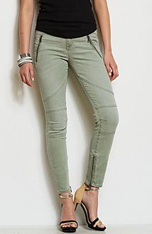 Super Skinny Zippered Moto Jean