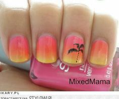 nail art summer nails ideas. Fun and easy, I tried it once but mine didnt look too  good