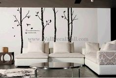 Large Size Birches Tree Wall Decals – WallDecalMall.com
