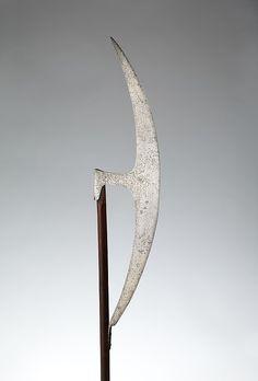 Axe (Berdiche) Date: A.H. 1197/ A.D. 1782–1783 Culture: Turkish, Medium: Steel, wood, silver